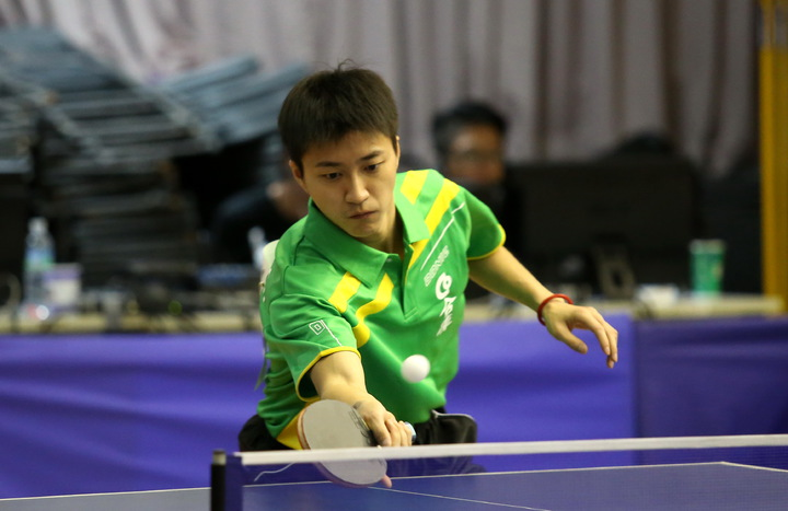 總統盃是江宏傑婚後首場國內比賽,第一戰助合庫輕取國立體大。      圖/中華桌協提供