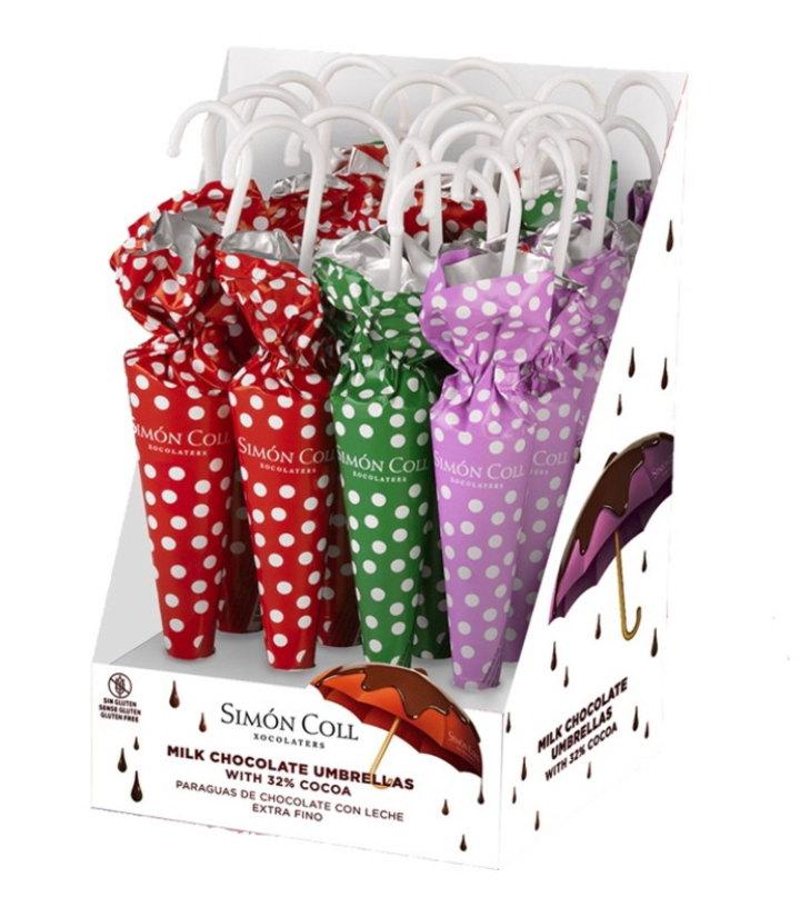 7-ELEVEN「世界巧克力大賞」登場,復古點點雨傘巧克力。圖/7-ELEVEN提供