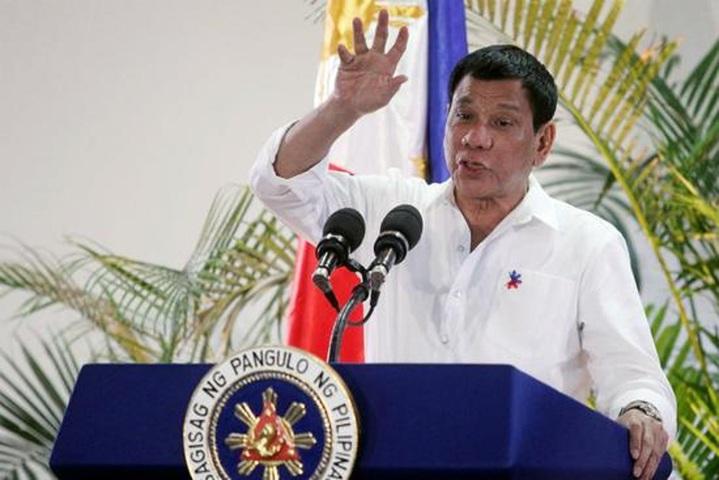 菲律賓總統杜特蒂。(環球網)