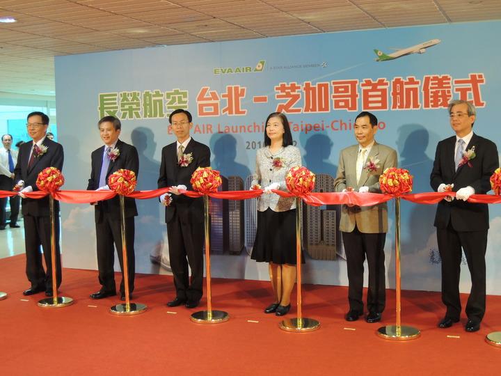 長榮航空今天開航台北-芝加哥航線,成為台灣唯一直飛芝加哥的航空公司。記者邱瓊平/攝影
