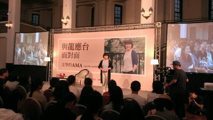 龍應台今天下午與讀者座談。記者董俞佳/攝影