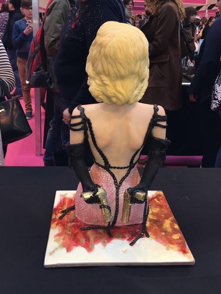 蔡依林二度參加國際蛋糕比賽,獲金牌。圖/摘自臉書