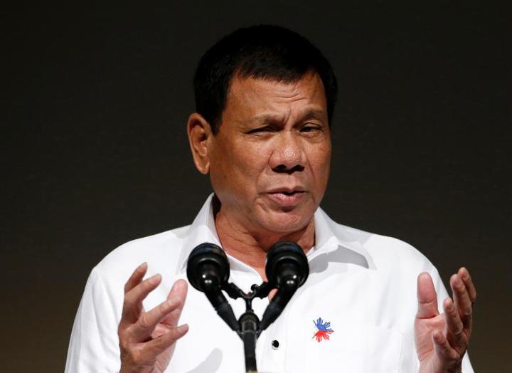 菲國總統杜特蒂。路透