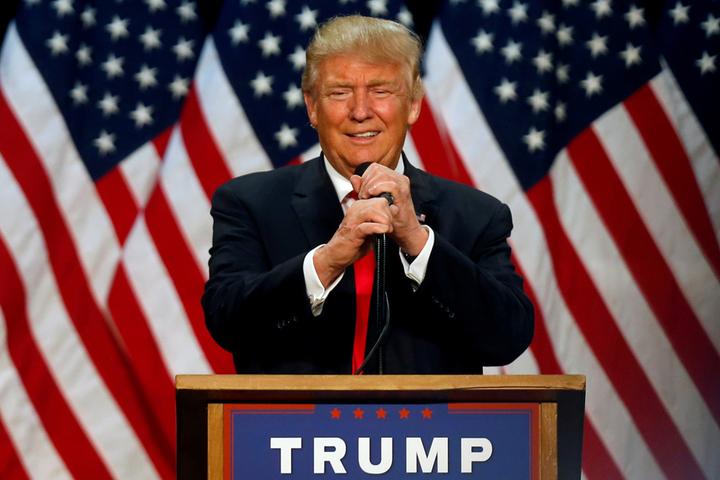 美國總統當選人川普曾多次公開坦承喜愛義大利訂製西裝。圖/美聯社