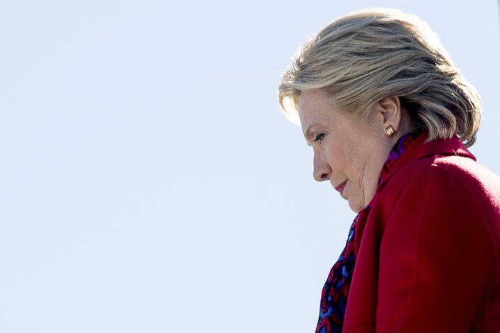 希拉蕊‧柯林頓無緣成為美國首位女總統。(圖/美聯社)