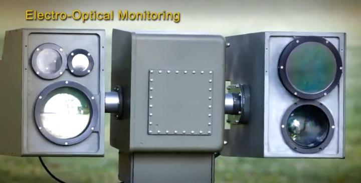 中科院研發的海岸監控系統也採用與海神雷達相同的光電系統。翻攝中科院影片