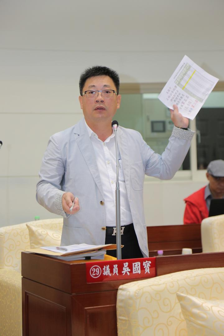 新竹市議員吳國寶批新竹市地價稅漲幅高,民眾哀哀叫。記者李青霖/攝影