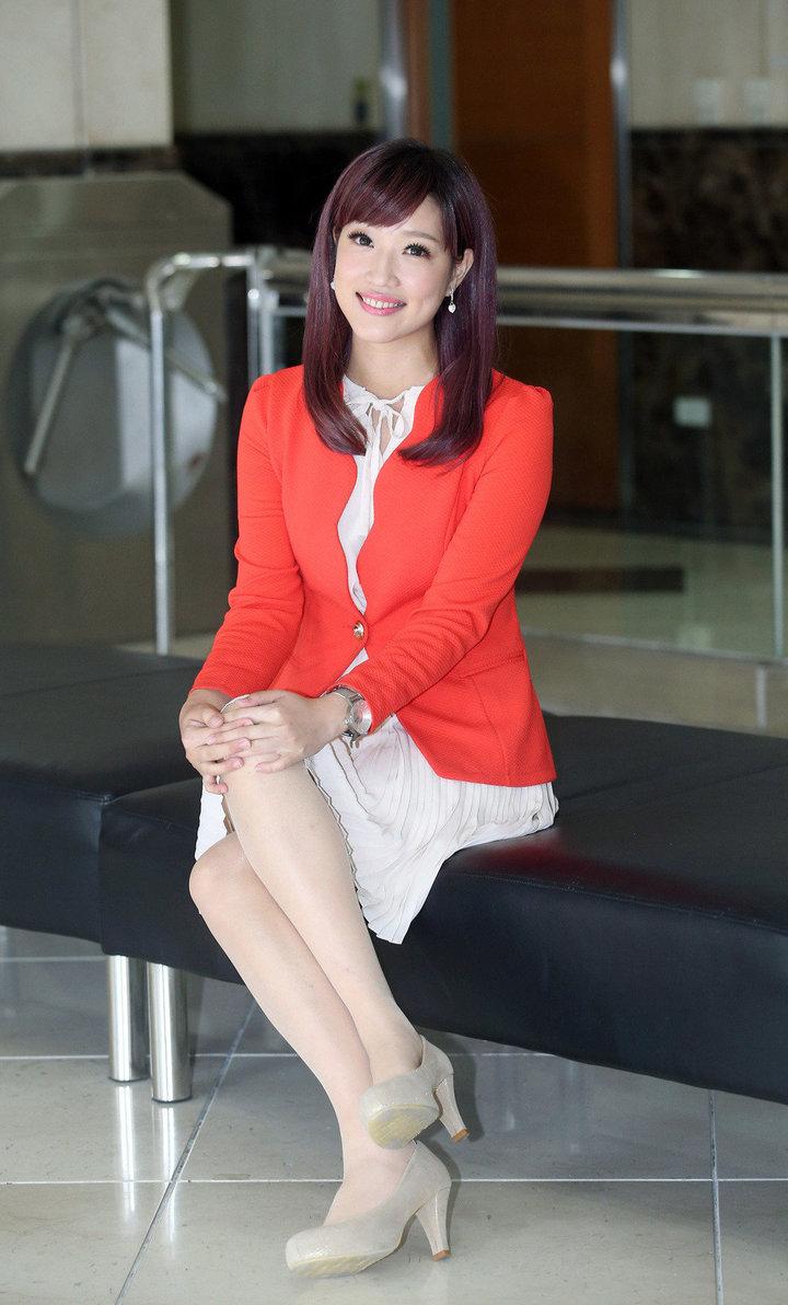 鄔凱雯分享當主播的甘苦談。記者陳瑞源/攝影