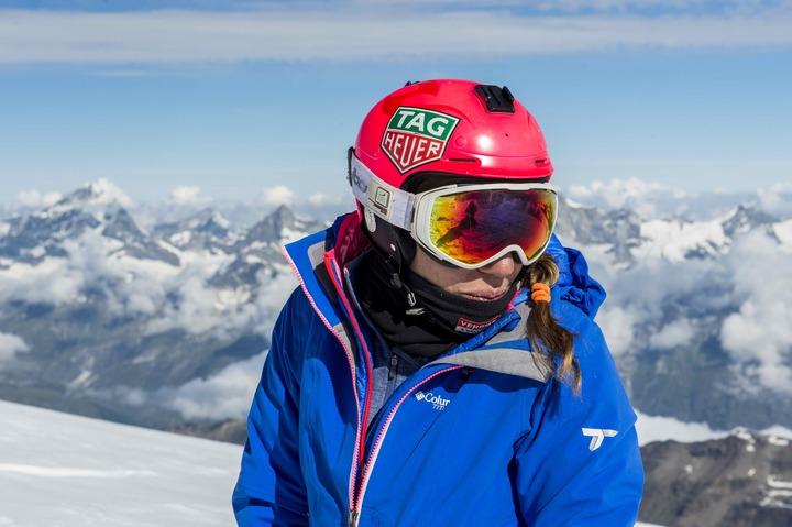 知名滑翔女飛人G&#233raldine Fasnacht受泰格豪雅表邀請,拍攝了她的心路歷程。圖/TAG Heuer提供
