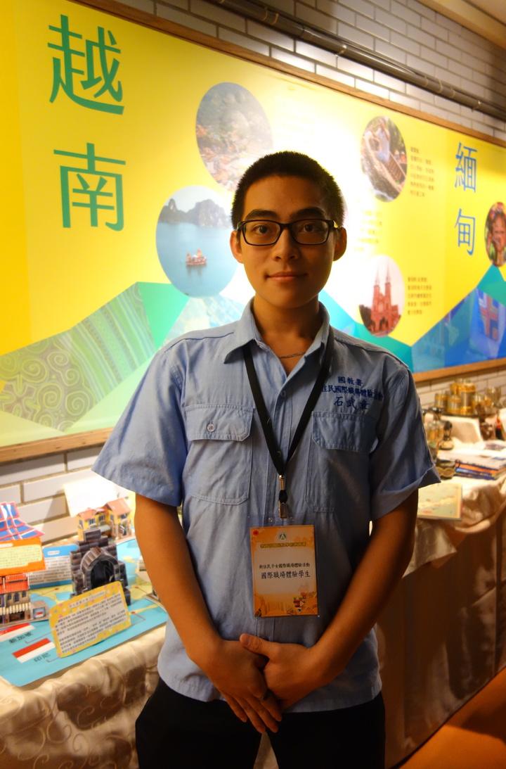 員林農工機械科二年級學生石武章,赴越南國際職場體驗。記者劉星君/攝影