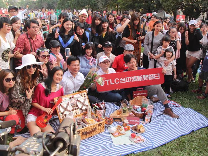 TLC旅遊生活頻道野餐日首次移師台中,吸引超過千人參加。記者蘇木春/攝影