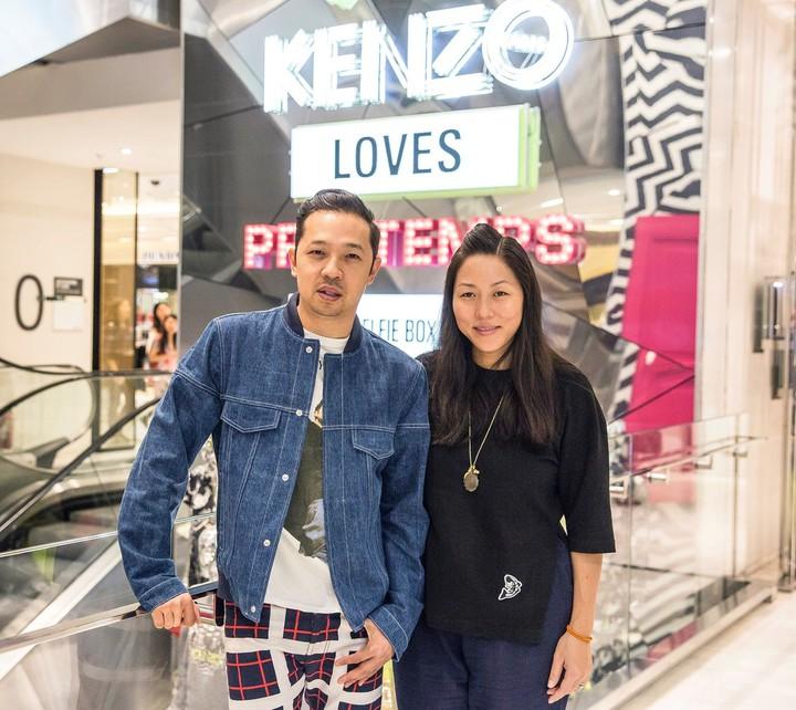 KENZO創意總監Carol Lim(右)、Humberto Leon也非設計師出身。圖/摘自KENZO Facebook