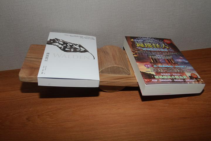 四星級觀光飯店打造成充滿書本的房子,書架是蹺蹺板。記者羅建旺/攝影