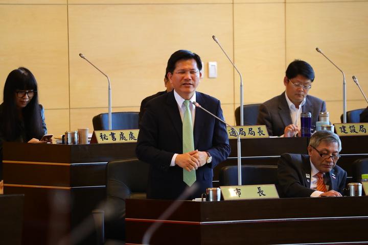 新台灣國策智庫今公布民調,台中市長林佳龍的施政滿意度達52.5%。圖/台中市新聞局提供