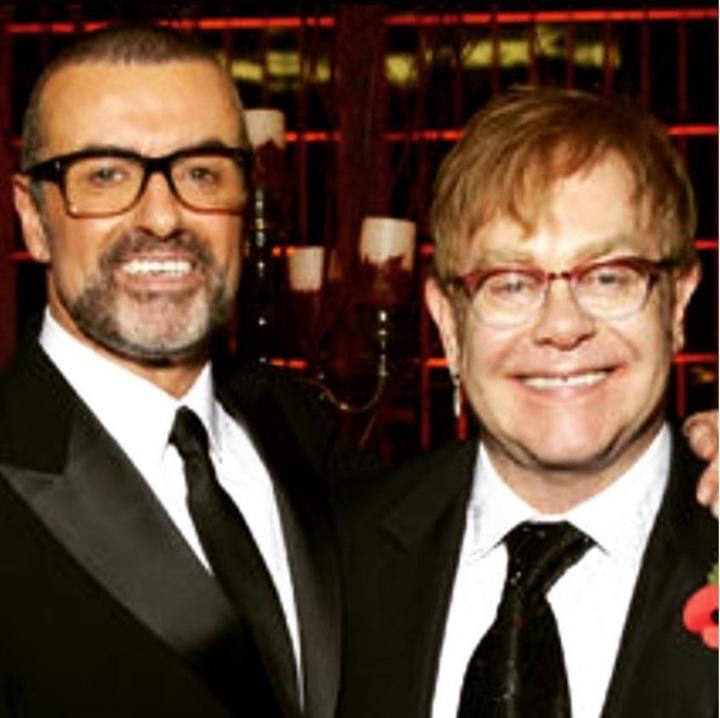 喬治麥可(左)與艾爾頓強是多年好友。圖/擷自於IG