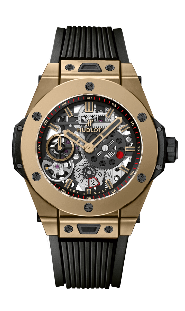 宇舶Big Bang Meca-10魔力金腕表,限量200只,價格未定。圖/Hublot提供