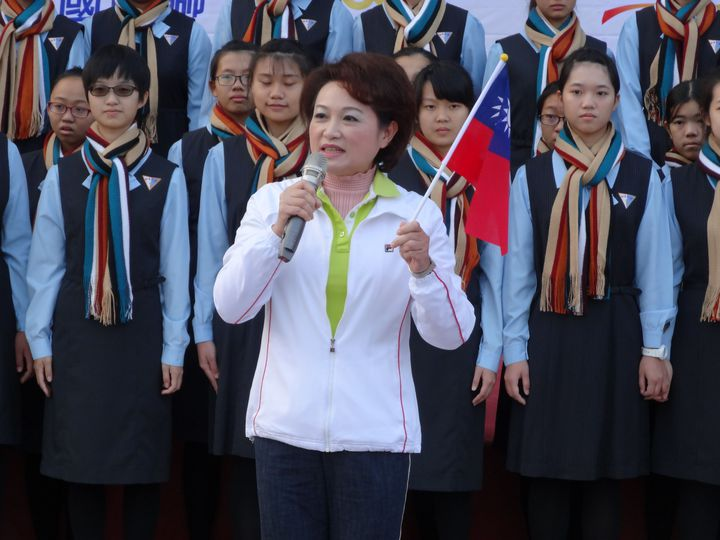 國民黨主席選戰嘉義市議長蕭淑麗不表態呼籲團結。記者魯永明/攝影
