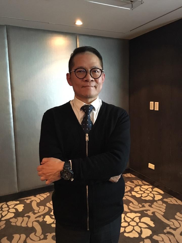 照片:太和生技集團發言人林順清。照片/記者江碩涵攝影。