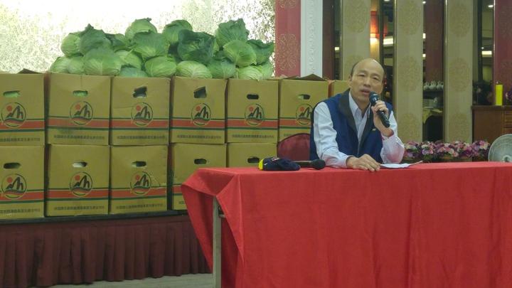 台北農產公司總經理韓國瑜上午正式宣布,參選國民黨主席。記者莊琇閔/攝影