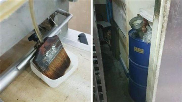 珍典食品遭員工爆料以機械潤滑油直接塗抹包子,昨遭食藥署勒令停業。圖/翻攝自爆料公社