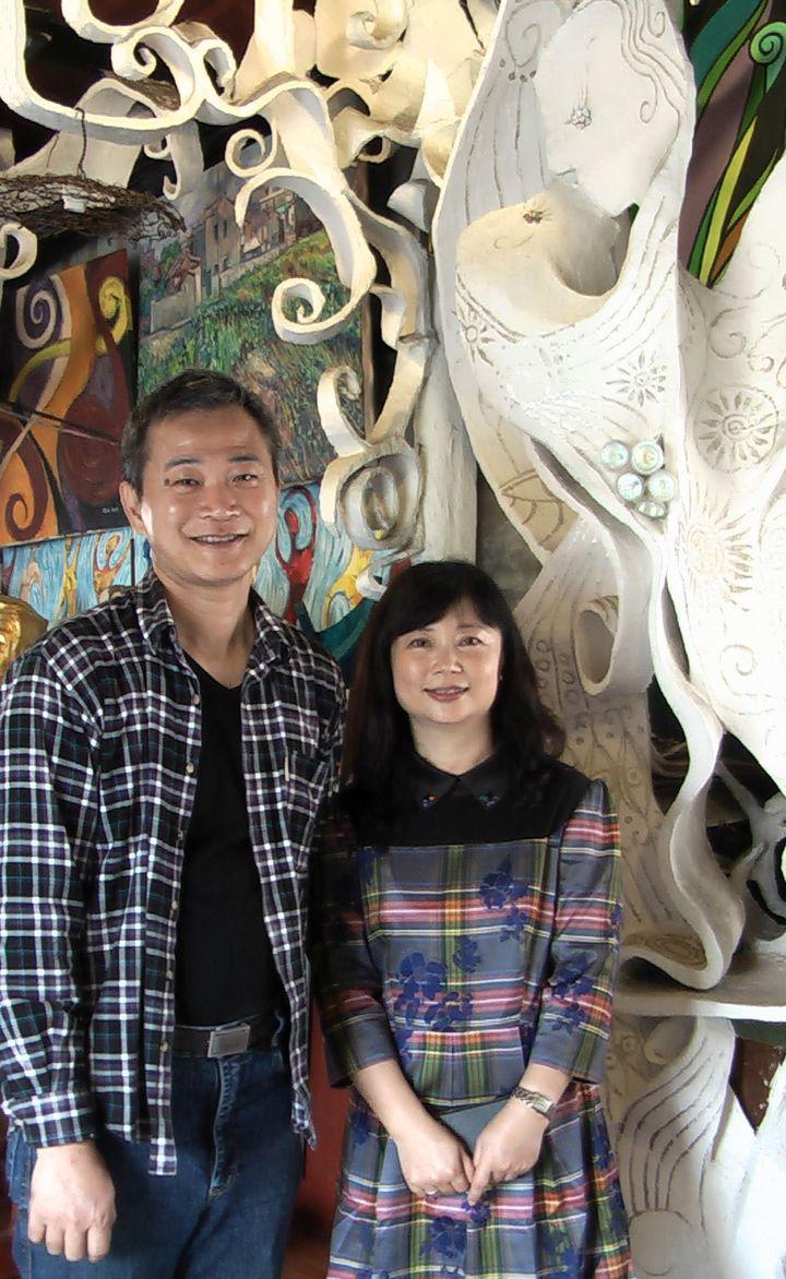 藝術家蔡政志與妻子沈敏莉,用心打造「蔡政志美術館」。記者徐如宜/攝影