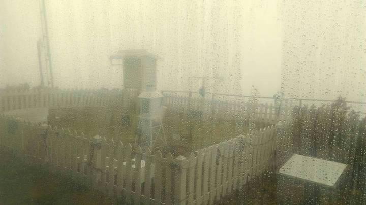 大陸冷氣團襲台但今天上午低溫不夠,下午則是低溫但水氣不夠而未下雪。圖/中央氣象局提供