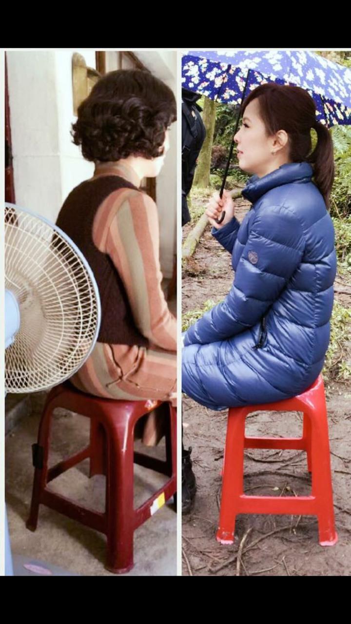 天心有張小紅椅,拍戲時帶著走。圖/摘自天心臉書
