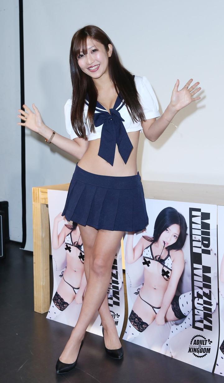 新人AV女優水稀美里來台舉辦粉絲見面會。記者陳瑞源/攝影