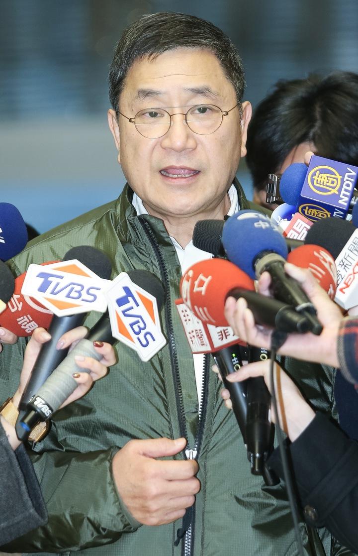 台泥新任董事長張安平今天下午出面說明董事會結果。記者黃威彬/攝影