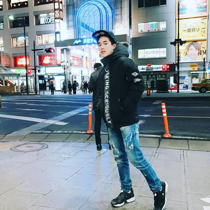 李博翔為「我的老師叫小賀」到日本仙台出外景。圖/民視提供