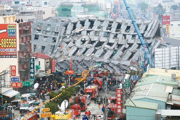 去年0206南台大地震,造成台南維冠大樓倒塌,釀115人死亡。圖/本報資料照片