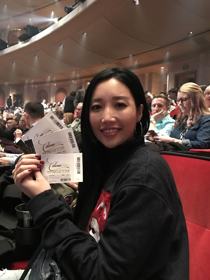 A-Lin賭城看偶像Celine Dion演唱會。記者陳于嬙/攝影