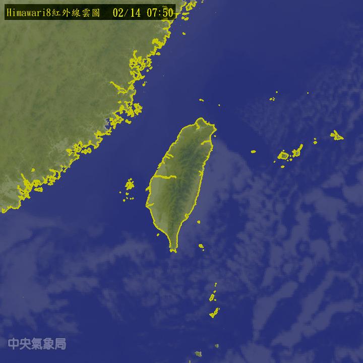 冷空氣減弱,台灣地區今起逐日回暖,西半部晴朗溫朗,東半部有雲稍多,偶有局部短暫雨。摘自中央氣象局網站