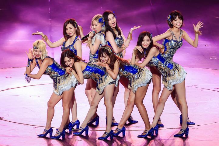 韓團少女時代去年在台北小巨蛋舉辦演唱會,勁歌熱舞展現活力。記者林伯東/攝影