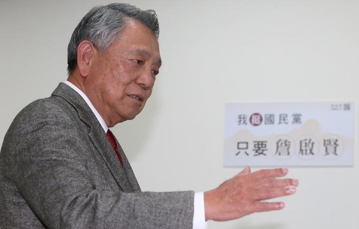 參選國民黨主席詹啟賢(圖)來到成功國宅,與黨員進行「國民黨2020贏回來」改革座談會。記者許正宏/攝影