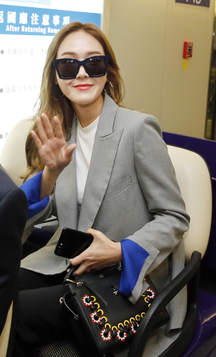 韓星潔西卡傍抵達台。記者鄭超文/攝影