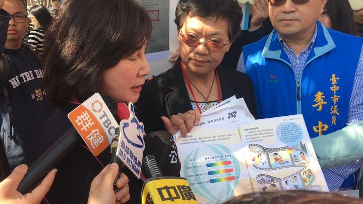 市議員黃馨慧反對教科書的性別光譜內容。記者陳秋雲/攝影