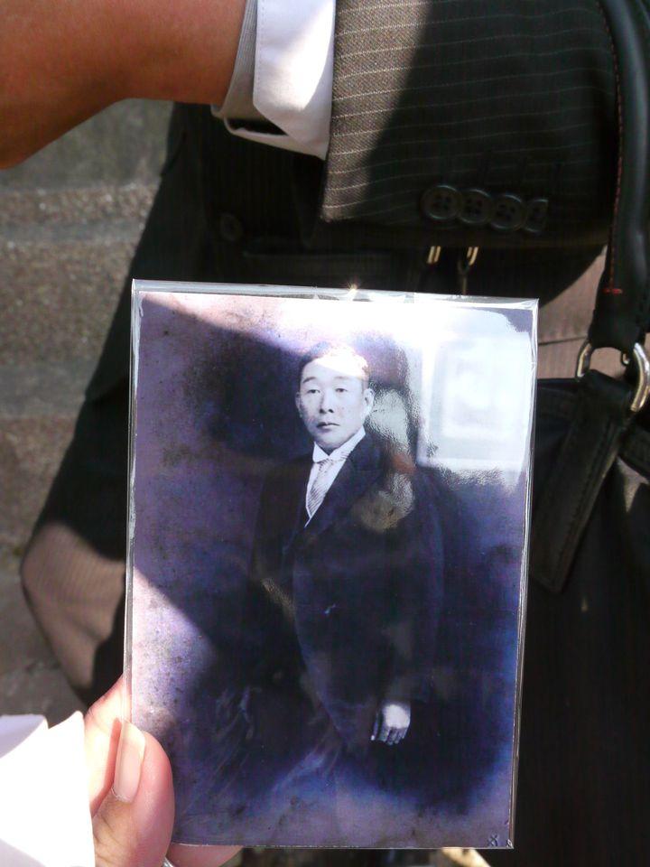 曾擔任杉林庄長的熊谷茂作遺照。記者徐白櫻/翻攝