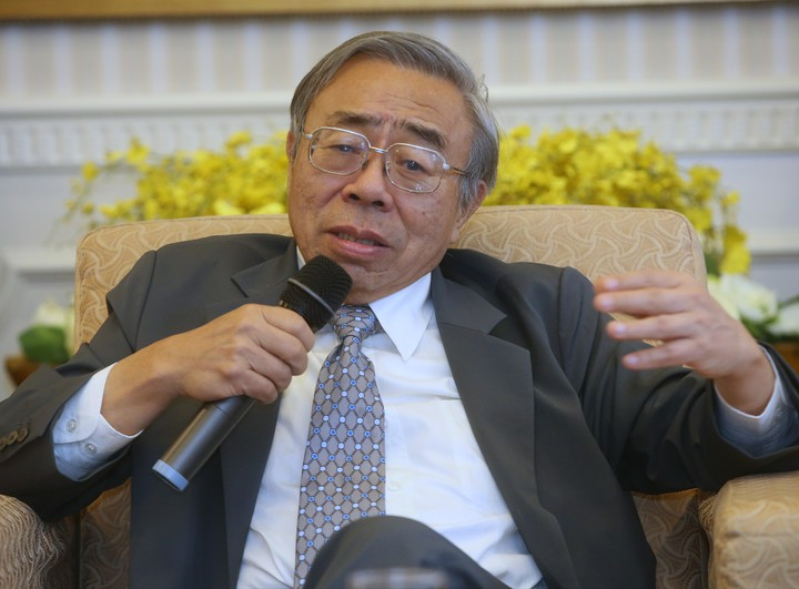 針對六輕四期擴廠受阻,台塑集團總裁王文淵在記者會中表達無奈。記者屠惠剛/攝影