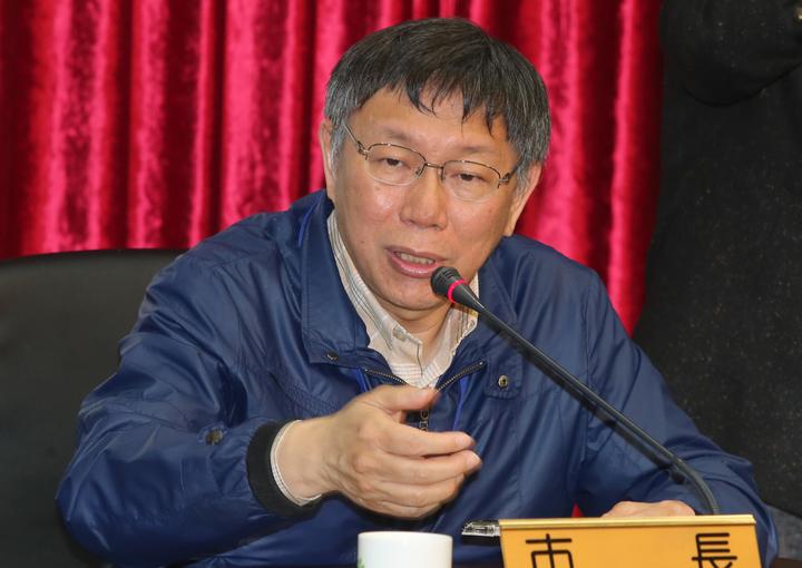 台北市長柯文哲上午出席記者會時表示,「中國已是世界大國,不要動不動就來恐嚇」。記者/徐兆玄攝影
