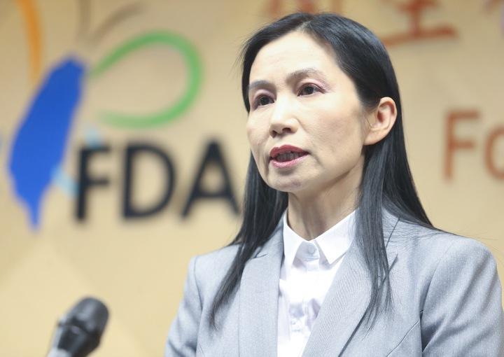 衛福部食品藥物管理署署長吳秀梅今天下午親自主持記者會,說明此次降血脂偽藥風波因應措施。記者黃威彬/攝影