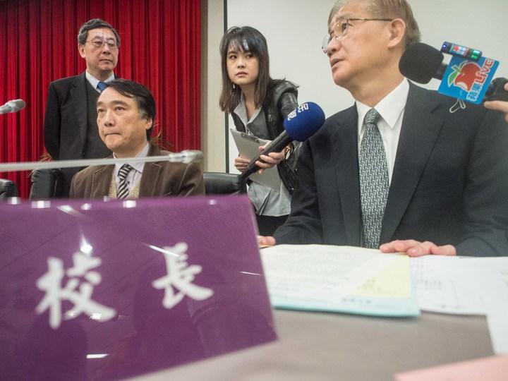 台大校長楊泮池今天在校務會議上表達任期滿後不續任。記者林良齊/攝影