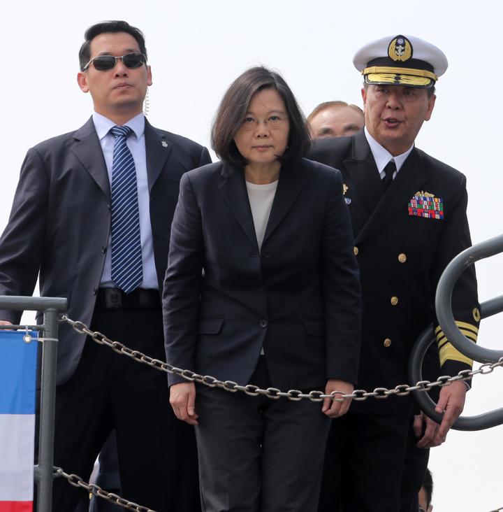 蔡英文總統今天上午南下左營主持潛艦國造簽約儀式。記者劉學聖/攝影