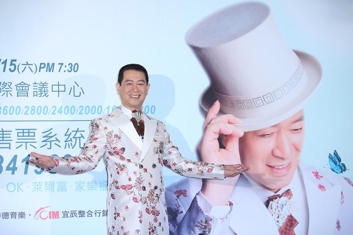 蔡小虎將於7月在台北國際會議中心舉辦演唱會。記者陳瑞源/攝影
