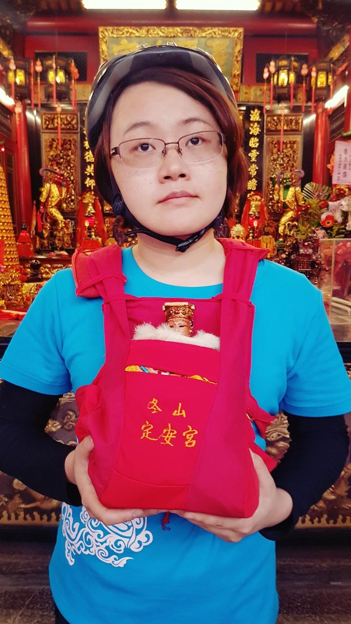 冬山定安宮供奉媽祖。記者吳佩旻/攝影