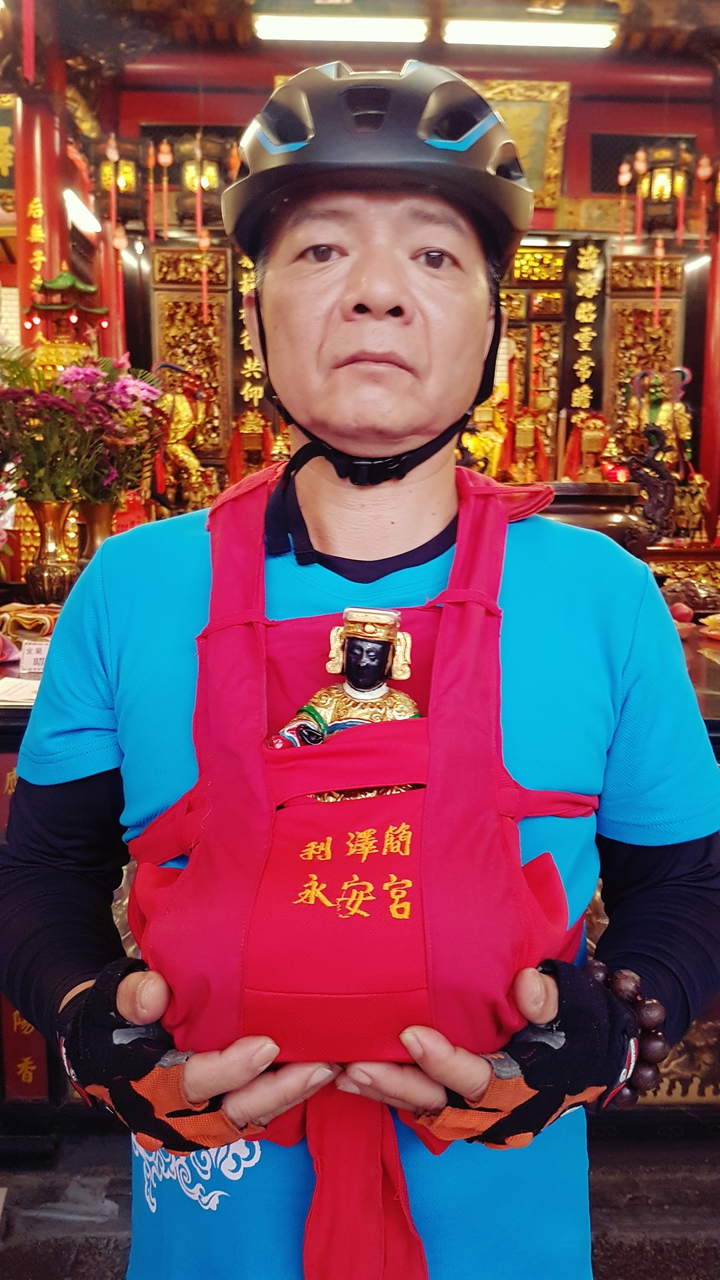 利澤簡永安宮供奉的媽祖。記者吳佩旻/攝影