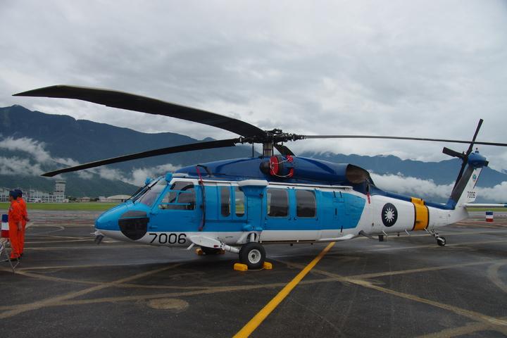 空軍S-70C-1直升機。記者程嘉文/攝影
