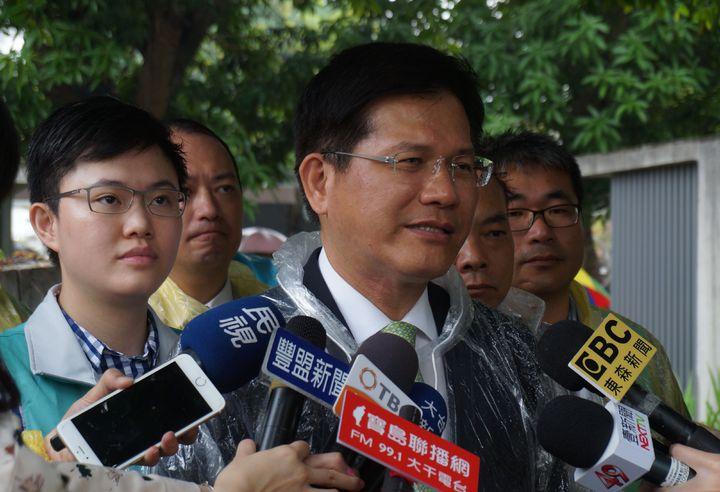 台中市長林佳龍出席追思鄭南榕活動,強調白色恐怖褪去,要注意「紅色恐怖」出現。記者洪敬浤/攝影
