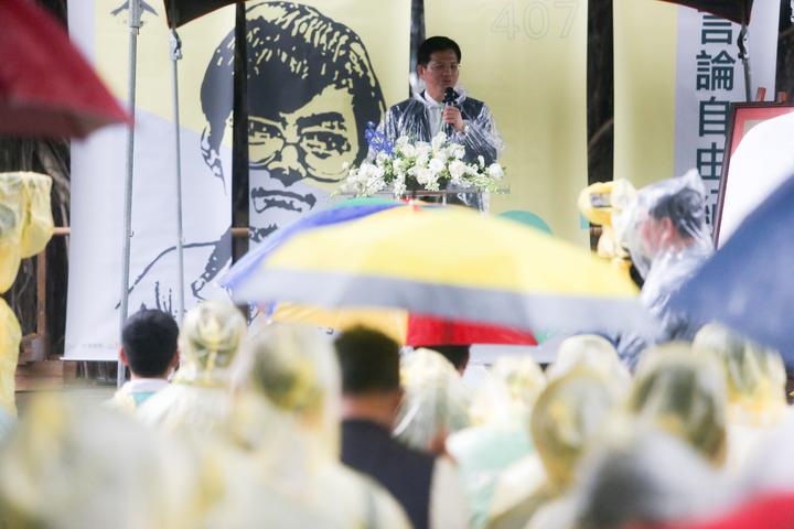 許多民眾風雨無阻的出席言論自由日紀念活動。記者黃仲裕/攝影