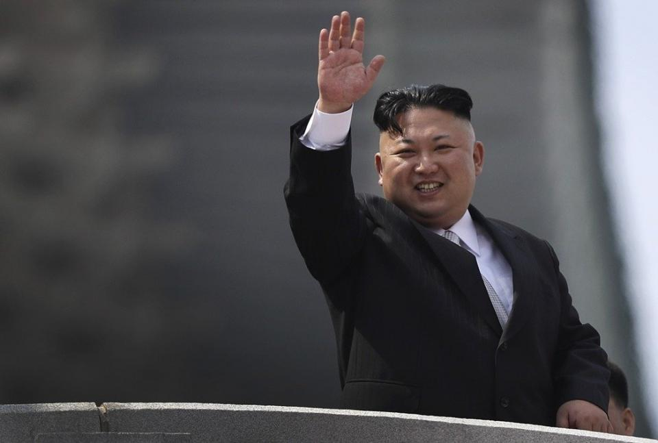 北韓領導人金正恩。美聯社